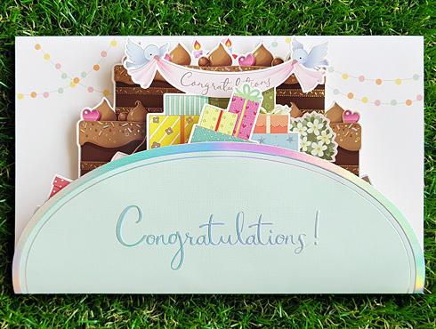 축하(초코 축하 팝업 케이크)